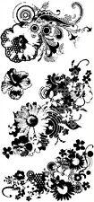NEW Inkadinkado Morphic Flowers Clear Stamp Set of 4 Card Making SCRAP 99118