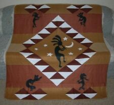 New Kokopelli Dance Polar Fleece Throw Blanket Southwest Flute Soft Gift Dancing