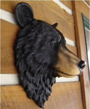 BLACK BEAR LARGE  WALL  MOUNT LODGE CABIN LOG HOME DECOR PROP