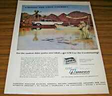 1960 Vintage Ad GM Harrison Air Conditioning Polar Bear Relaxing in Boat