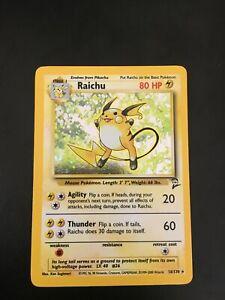Raichu 16/130 Base Set 2 Holo WOTC Pokemon NM PSA