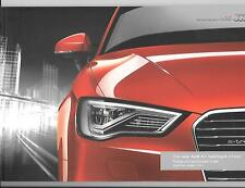 AUDI A3 SPORTBACK e-tron ILLUSTRATED PRICE/SPECIFICATION CAR BROCHURE AUG. 2014