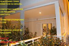 Tende per Vento e pioggia Ermetica in cristal trasparente con doppia stecca