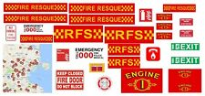 LEGO COMPATIBLE CUSTOM DECALS FIRE STATION TOP QUALITY STICKERS contour cut