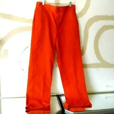 Orange Vintage Pants Dickies Mens 33 x 32 Made in Mexico Great Condition Rare
