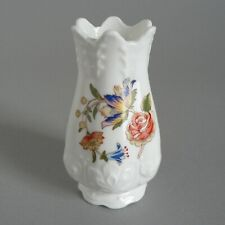 "AYNSLEY COTTAGE GARDEN 3.5"" POSY VASE RELIEF FOOTED MINI FINE ENGLISH BONE CHINA"