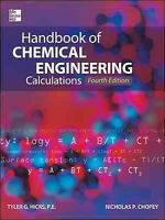 Handbook of Chemical Engineering Calculations, Hardcover by Hicks, Tyler G. (...