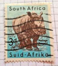 South Africa stamps - White Rhinoceros (Ceratotherium Simum)  3d 1954