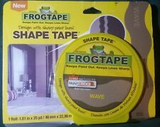 Frogtape Shape Tape Paint Block Seals Tape Edges Painter's Line 25 Yard Roll New