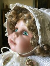 """20-21"""" Beautiful Porcelain Sitting Duck House Doll Stunning Christening Outfit"""