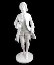 Augarten Porzellan Figur Rosenkavalier weiss 2. Wahl Albin Döbrich Entwurf Wien