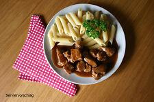 Schweinegulasch, Schwein Gulasch, 600g, lang haltbar ideal f. Camping (7,33€/kg)