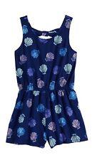 Girls Romper-blue With Seashells- NWT Size 10/12