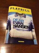 DEAR EVAN HANSEN BROADWAY NEW YORK CITY PLAYBILL NOVEMBER 2017 BEN PLATT RARE