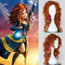Disney Movie The Pirate Fairy Zarina Wig Synthetic Long Curly Auburn Cosplay Wig