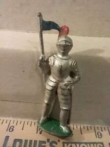 Rare Vintage Barclay,  knight with pennant.