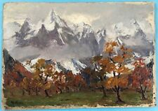Impressionismus Ölgemälde Herbst Alpen Dolomiten Tirol? Margarethe Hamm ~1925