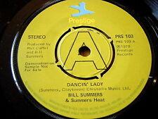 "BILL SUMMERS & Summer Heat-Dancing Lady 7"" vinyle DEMO"