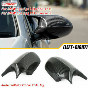 Carbon Fiber Side Wing Mirror Cover M3 Style For BMW E90 E91 E92 Facelifted