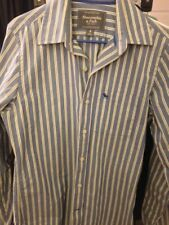 Vintage Abercrombie And Fitch Men's Button Down Striped Shirt Muscle Fit Size S