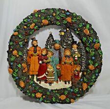 "Vintage Kurt S Adler Christmas Caroller Wreath Resin 12.5"" with Box"