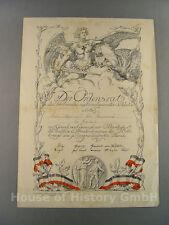 """Urkunde für die Deutsche Ehrendenkmünze des Weltkrieges """"Fürs Vaterland"""""""
