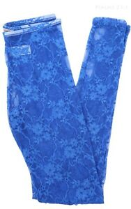Women's Full Floral Lace Skinny Leg Full Length Long Leggings Casual Nylon S M L