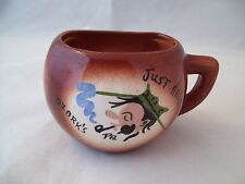 Vintage Airbrushed Just Half-A-Cup Novelty Coffee Mug Ozark's PA Cute!