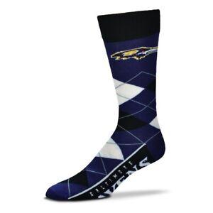 BALTIMORE RAVENS NFL FOOTBALL JERSEY LOGO ARGYLE DRESS SOCKS LARGE