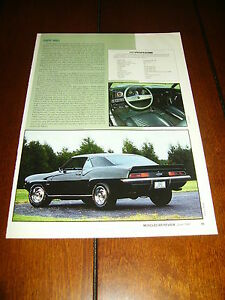 1969 CAMARO 427 COPO 9561 ORIGINAL 1991 ARTICLE