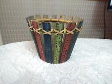 Ruler Effect Pot Cover Wood Basket
