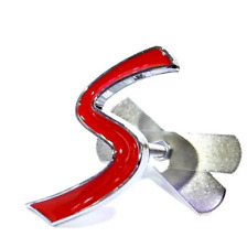 Red Metal Letter S Grille Front Grill Emblem Badge For BMW MINI Cooper S JCW