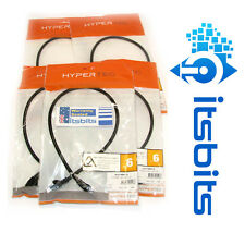 HYPERTEC 5x 50cm CAT6 NETWORK PATCH CABLE LEAD TELSTRA COMPLIANT FULL MOULDED