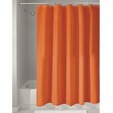 Mildew Free Water Repellent Bathroom Fabric Shower Curtain 183 X Cm Orange