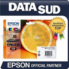 CARTUCCE ORIGINALI EPSON 33XL MULTIPACK ALTA CAPACITA XP-530, XP-630,XP-635,XP..