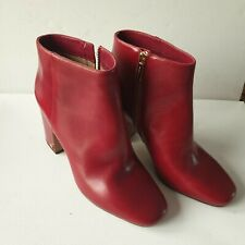 Michael Kors Ladies Red Ankle Boots  Size 6 New With Tags