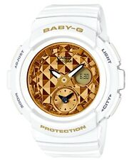 Casio Baby-G * BGA195M-7A Studs Anadigi Dial Gloss Gold & White Watch COD PayPal