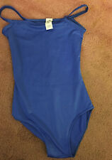 Joanna Designs Solid Blue Dance Gymnastics Leotard Adult Small Vgood Condition!