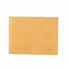 Isaia 100% Leather Yellow Men's Bifold Wallet