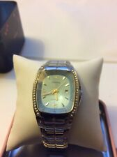 Fossil Blue Womens Watch Prism Shaped Crystal Light Blue Rectangle. Dial