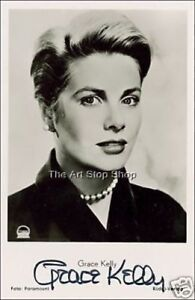 Grace Kelly signed photo print