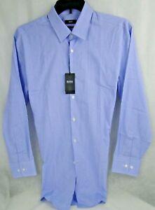 Hugo Boss Sharp Fit Cotton Dress Shirt in Blue MSRP $125 NWT NICE! - 17 x 32/33