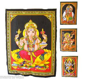 Shiva Krishna Buddha Ganesh Hanuman Durga Wall Hanging  Indian Hindu God