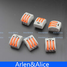 100Pcs PCT-213 3 Pin Universal compact wire wiring connector conductor terminal