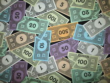 MONEY MONOPOLY GAME DOLLARS BILLS CURRENCY COTTON FABRIC FQ