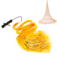 10.5FT Hand Cast Fishing Net Spin Network Easy Throw Bait Nylon 0.39'' Mesh USA