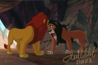 Tullio Solenghi Il Re Leone Scar Signed Autografo ITP Lion King Disney Cinema