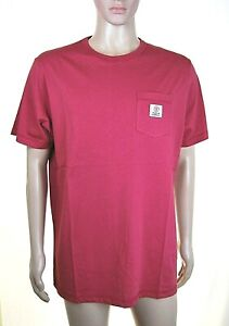 T-Shirt Maglietta Uomo FRANKLIN & MARSHALL Made in Italy H476 Rosso Tg L