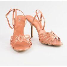 Bakers Womens Metallic Peach Leather Strappy High Heel Pumps 8 NIB