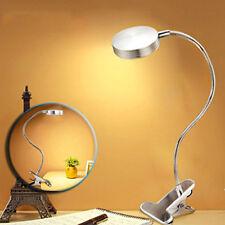 Light dimmer LED Flexible Reading Light Clip-on Bed Table Desk Lamp Silver